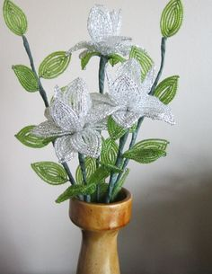 French Beaded Flowers Crystal Dahlias by SherrysBeadedFlowers, $30.00