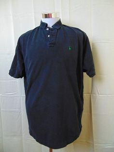 Polo by Ralph Lauren Men's Polo Shirt Size XL Short Sleeve Cotton Black #361 #RalphLauren #PoloRugby