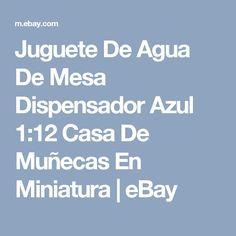 Juguete De Agua De Mesa Dispensador Azul 1:12 Casa De Muñecas En Miniatura  | eBay