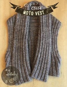 Moto Vest Pattern – Knitterly