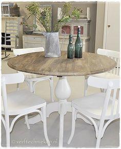 Mdf top in 39 old wood look 39 verftechnieken pinterest bos en blog - Concrete effect tafel ...