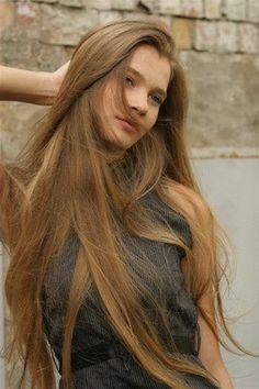 long hair, natural