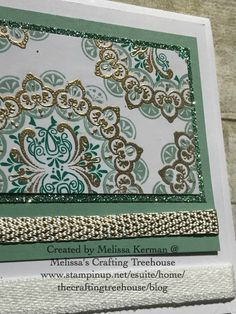 Make A Medallion Sale-A-Bation Stamp Set by Stampin' Up! plus assorted Glimmer Paper.