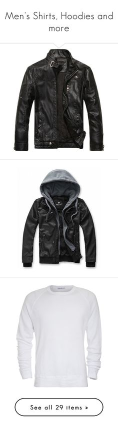 """""""Men's Shirts, Hoodies and more"""" by elizabethwoods809 ❤ liked on Polyvore featuring men's fashion, men's clothing, men's outerwear, men's jackets, jackets, men, mens vintage jackets, mens pleather jacket, mens jackets and tops"""