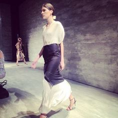 Tome #SS15 show - Inspired by India, the pleats, folds, and wraps of Saris played a key role #NYFW