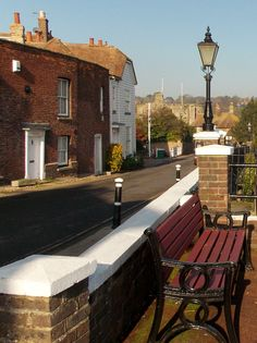 Gorgeous warm Autumn  day in the Cinque Port town of Rye, looking towards Landgate, the town gate of Rye, East Sussex, England By B Lowe