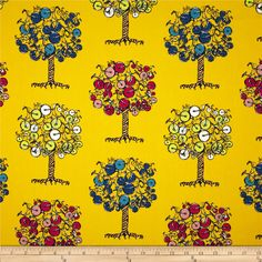 Designed by AGF In House Studio for Art Gallery Fabrics, this cotton print is perfect for quilting, apparel and home decor accents.  Colors include off white, black, yellow, peach, red, pink, green and shades of blue.  Art Gallery Fabric features 200 thread count of finely woven cotton.