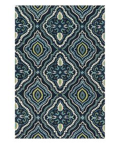 Love this Navy & Aqua Francesca Rug on #zulily! #zulilyfinds