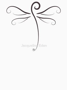 'Swirly Dragonfly Tee' T-Shirt by Jacqueline Eden Dragonfly Quotes, Small Dragonfly Tattoo, Dragonfly Art, Music Tattoos, Body Art Tattoos, New Tattoos, Tattoo Outline, I Tattoo, Cool Small Tattoos