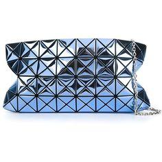 Bao Bao Issey Miyake Geometric Panel Metallic Shoulder Bag (3.625 BRL) ❤ liked on Polyvore featuring bags, handbags, shoulder bags, bao bao by issey miyake, metallic purse, blue handbags, blue purse and shoulder hand bags