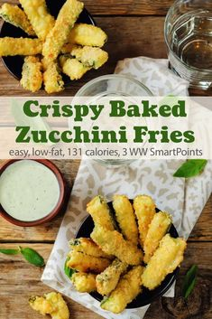 A Weight Watchers favorite recipe, with lots of reviews and 4+ star rating, these crispy oven-baked zucchini fries are an all-around winner with just 131 calories and 3 WW Freestyle SmartPoints! #simplenourishedliving #weightwatchers #ww #wwfamily #smartpoints #wwfreestyle #wwsmartpoints #wwsisterhood #easyhealthyrecipes #zucchini