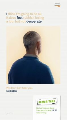 Samaritans' We listen campaign explained | Samaritans