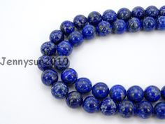 Natural Lapis Lazuli Gems Stones 4mm Round Spacer Loose Beads 15'' Strand for Jewelry Making Crafts 5 Strands/Pack #Affiliate