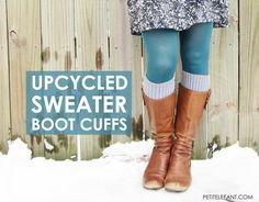 how to make your own boot cuffs from upcycled old sweaters