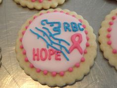 Royal Bank of Canada fundraising cookie for Kemptville District Hospital Mamography....Log House cookies