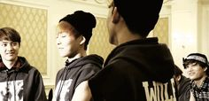 """""""So adorable ;-; (gif)"""" Xiumin being too much"""