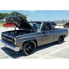 Dropped Trucks, Lowered Trucks, C10 Trucks, Chevy Pickup Trucks, Classic Chevy Trucks, Lifted Ford Trucks, Chevrolet Trucks, 1968 Chevy Truck, Chevy Pickups