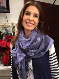 Kristian Alfonso in purple scarf #daysofourlives #dool @KJALFONSO