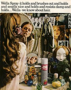 Advert for Wella. Scanned from Flair, October 1972.