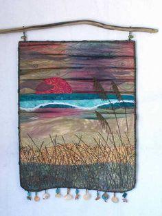 Fiber Art Quilts-Beachscape by Eileen Williams