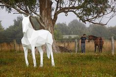 'White Horse' by Ben Foster, recently on show at the Auckland Botanic Gardens