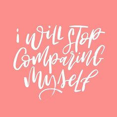 """Day 2 of #BetterMeJune #lettering challenge. """"I will stop comparing myself"""" to anyone that I """"think"""" is better than me. It's something most of us struggle with in an off, especially now with social media and seeing what other artists are doing. We compare ourselves to them and then what? We feel bad! So this month I'm putting a STOP to that sort of thinking. This month I'm focusing on being me, and LOVING IT!!! . . I'm also trying to find me, what makes me happy and what I want to..."""