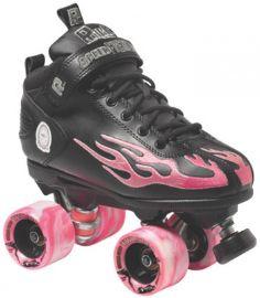 Suregrip Quad Skates Rock Flame Black/Pink  £159.99
