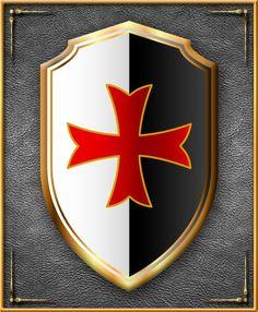 Knights Templar: #Knights #Templar Cross shield.