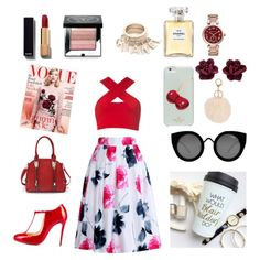 A fashion look from January 2016 featuring strappy top, flower skirt and round toe pumps. Browse and shop related looks. Flower Skirt, Round Toe Pumps, Classy Chic, Fashion Looks, Skirts, Image, Shopping, Tops, Skirt