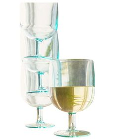 Perfect for picnics or outdoor spring gatherings, these stacking acrylic glasses are easy to store and won't move around in transit.