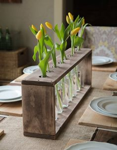 Glass Bottle And Pallet Vase Home Accessories