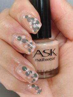 Create your own nail art tools and go crazy! Seen here is base shade Abalone Sand by ASK Cosmetics of Canada. http://www.askcosmetics.com