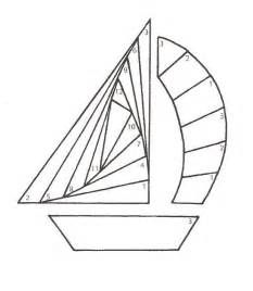 Sailboat Iris Folding | We teach crafts