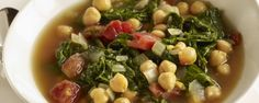 Spicy Greens and Chickpea Soup