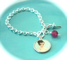 Women's Sterling Silver Charm Bracelet  by LoriLakeTreasures, $58.00