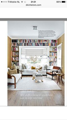 101 woon ideeën: boekenkast in de erker.