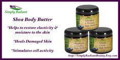 Organic Lemon Cream Body Butter (All Natural Skin Care, Vegan) - Whipped Shea Body Butter