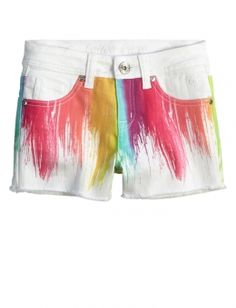 PAINT DRIPPED DENIM SHORTS | GIRLS SHORTS CLOTHES | SHOP JUSTICE