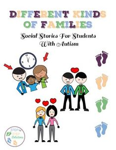 This is a must have for any teacher, counselor, speech and language pathologist, and parent who is working with students with autism. This set of social stories focuses on that not all families are the same, but it doesn't make them any less of a family who love one another.