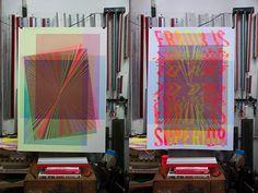 The Constitution of Moiré / Silkscreen Print by tind ., via Behance Screen Printing Process, Silk Screen Printing, Constitution, Printmaking, Illusions, Tarot, Illustration Art, Study, Artwork