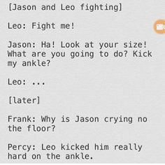 Leo forever getting short jokes... Jason asked for it tho