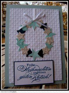 jussis-papierwelt kartka Boże Narodzenie Christmas Diy, Merry Christmas, Christmas Decorations, Holiday Cards, Christmas Cards, Cardmaking, Scrapbooking, Frame, Crafts