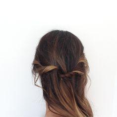 Half twisted hair