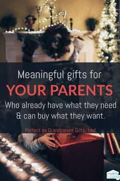 10 Meaningful gifts for YOUR PARENTS and kids grandparents via @BeckyMans Christmas Gift For You, Christmas Presents For Parents, Parent Christmas Gifts, Meaningful Christmas Gifts, Christmas 2019, Xmas Gifts, Meaningful Gifts, Christmas Carol, Christmas Traditions