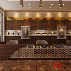Gold smith Showroom Interior Showroom Interior Design, Gold Interior, Modern Interior Design, Jewellery Shop Design, Jewellery Showroom, Diy Jewellery, Jewellery Shops, Jewellery Storage, Counter Design