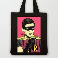 Holy Burt-man! Tote Bag by Vee Ladwa - $18.00