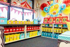 circus theme classroom library