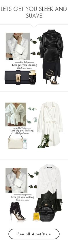 LETS GET YOU SLEEK AND SUAVE by sofiacalo on Polyvore featuring polyvore fashion style George J. Love Beaufille Jimmy Choo clothing Oscar de la Renta Chloé Ingie Paris Jacquemus Gianvito Rossi Aspinal of London Frapin Dries Van Noten Thierry Mugler
