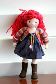 Love these grown up, more fashion doll style Waldorf dolls!  http://www.colorfulpuppen.com/