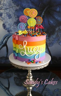Striped Candy Cake birthday cakes 10234 themed cakes